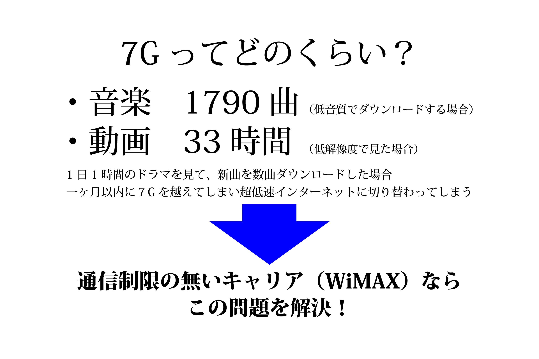 WIMAX通信制限